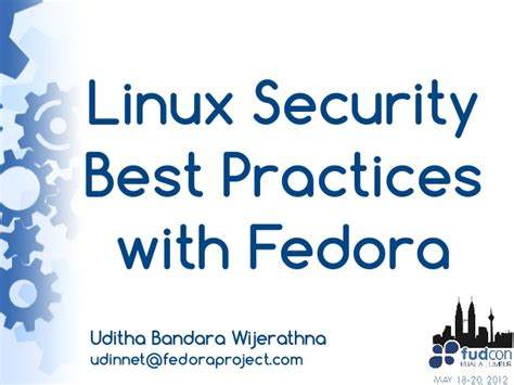 linux security best practices with fedora