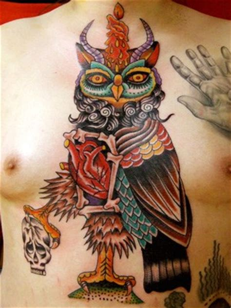 robert ryan tattoo owl chest by robert tattoonow