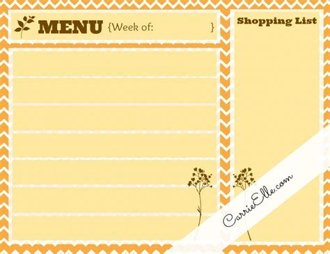 printable meal planner by carrie lindsey free meal planning printables inspired by fall carrie elle