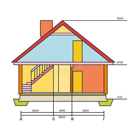 disegno tecnico casa disegno tecnico dell icona della casa nello stile