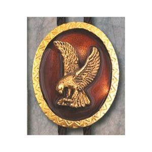 Bolo Tie Jasper Bt 251 au 1711 bolo tie gold oval with gold eagle
