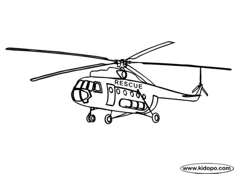 Rescue Helicopter Coloring Page | colour in helicopter coloring pages