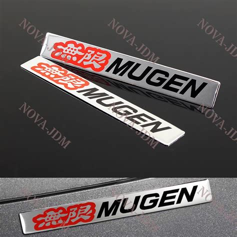 Sticker Bodi Sing Mugen 2pcs car trunk emblem badge sticker decal mugen for honda civic si acura