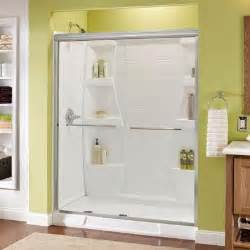 glass shower doors at home depot delta simplicity 59 3 8 in x 70 in bypass sliding shower