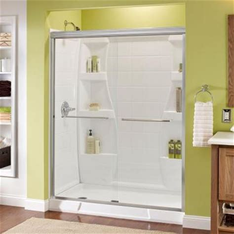 bathroom doors at home depot delta simplicity 59 3 8 in x 70 in bypass sliding shower
