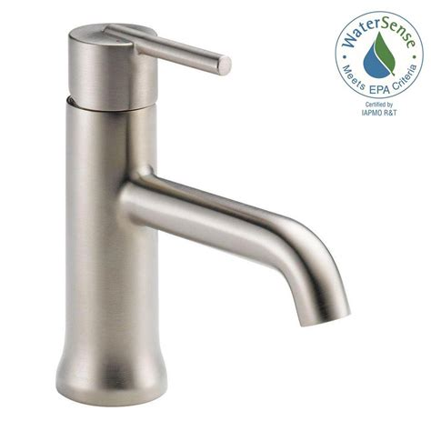 home depot bathroom faucets delta delta trinsic bathroom faucet stainless
