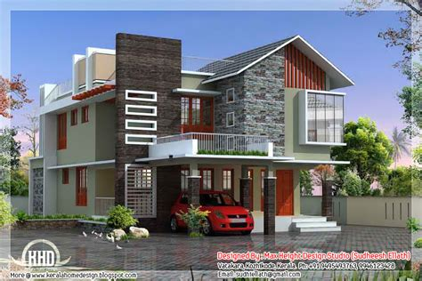 Unique House Plans Contemporary Modern Home Design Kerala Floor Plans House