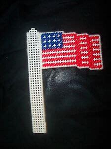 antenna flag finished plastic canvas handmade item car adornment 717
