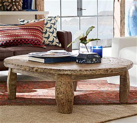 Coffee Table With Wheels Pottery Barn Bullock Cart Wheel Coffee Table Pottery Barn