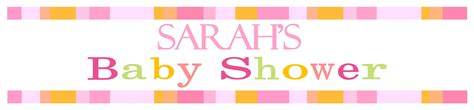 Baby Shower Banner by Personalised Pink Baby Shower Banner Design 3