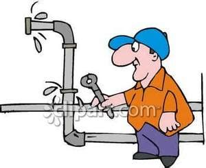 Fixing Leaking Kitchen Faucet a plumber fixing a leaking pipe royalty free clipart picture
