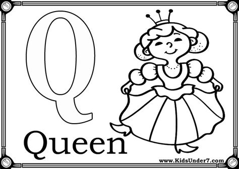 free coloring pages of lower case letter q