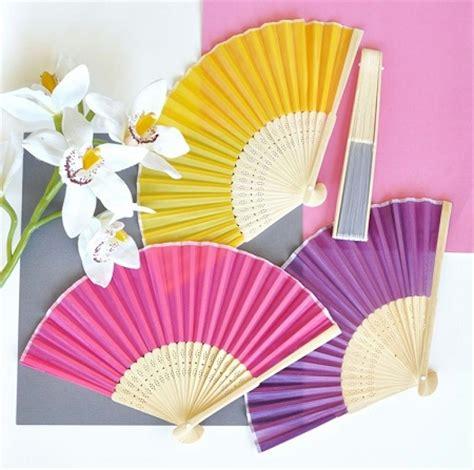 silk folding fans colored silk folding fans fan favors wedding