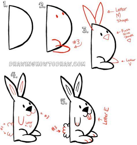 let s draw bunnies 35 step by step bunny drawings books 17 bedste id 233 er til nemme tegninger p 229 easy