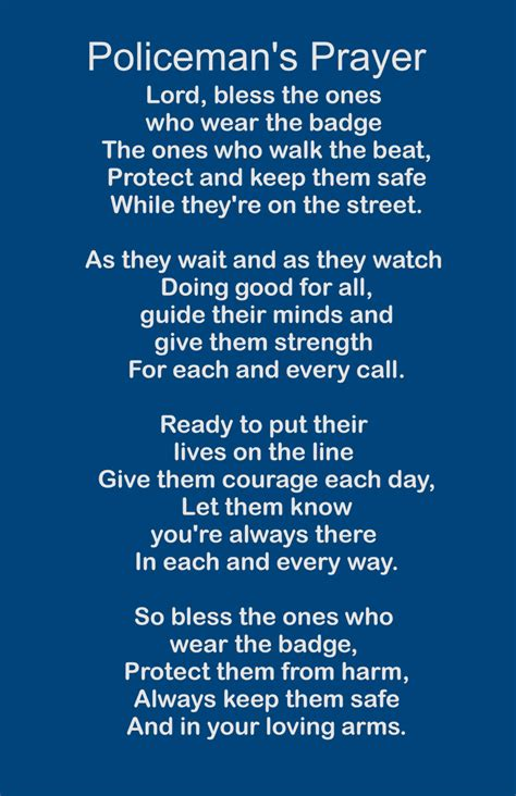 Prayers For Officers by Policeman S Prayer Wood Sign Or Print By Heartlandsigns On