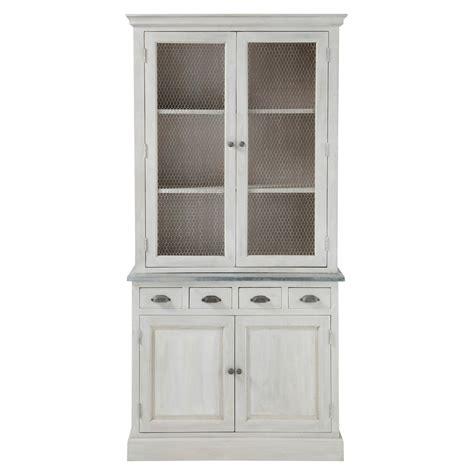 Dresser And Armoire Vaisselier En Bois D Acacia Gris L 102 Cm Zinc Maisons