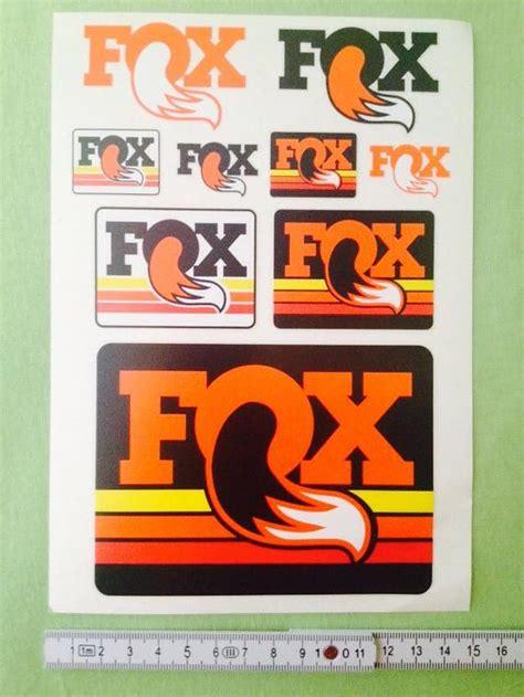 Fox Aufkleber Set by Fox Aufkleber Sticker Decals Bikemarkt Mtb News De