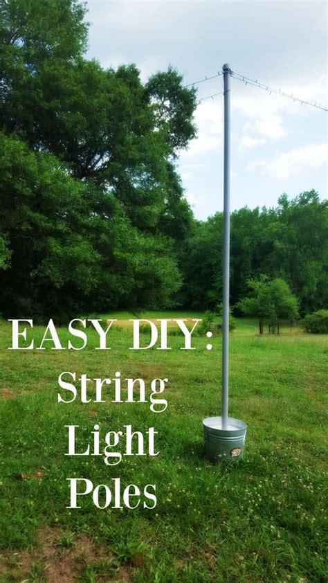 outdoor string light pole lighting that s and string lights on