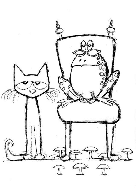 coloring page of pete the cat 908 best images about coloring pages on pinterest sarah