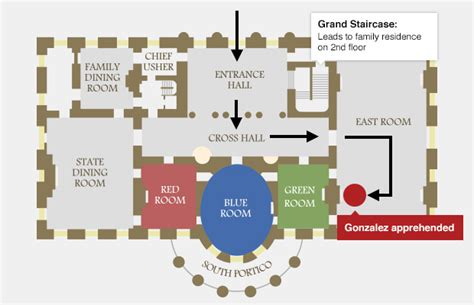 white house first floor plan fence jumper made it farther in white house than secret service let on cbs news