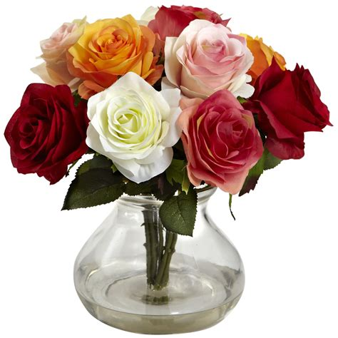 Arranging Roses In A Vase by Blooming Confetti Roses Bouquet W Vase Water Look