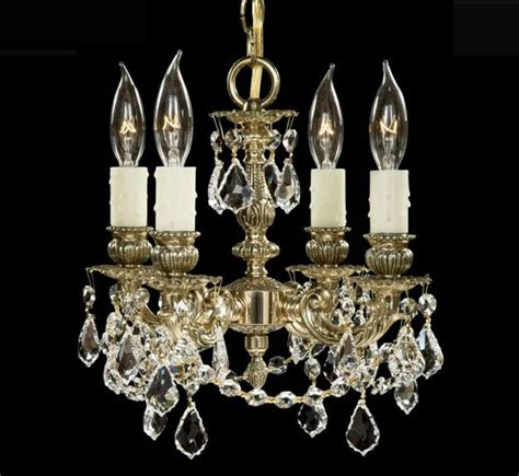 Christal Chandelier Biella Collection Small Brass Chandelier Grand Light