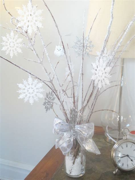 winter snowflake centerpieces beyond the portico winter centerpieces with