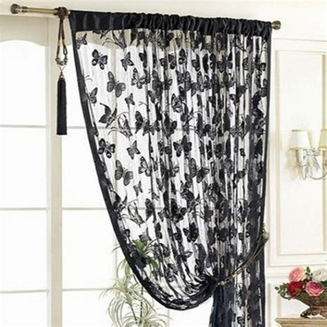 Butterfly Pattern Tassel String Door Curtain Window Room