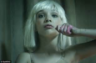 sia chandelier sia s chandelier dancer maddie ziegler lights up screen in