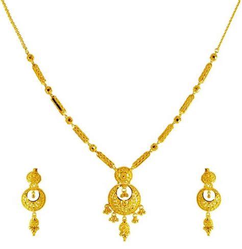 22 karat gold necklace set ajns61661 22kt gold