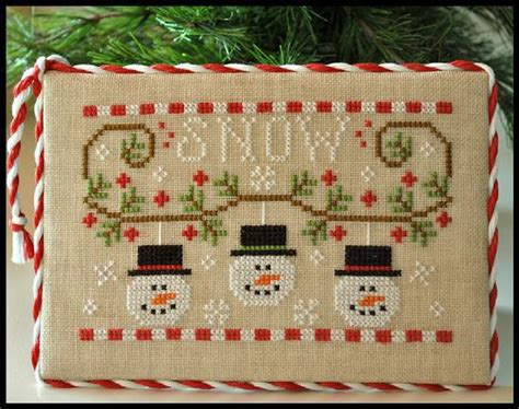 winter welcome country cottage needleworks i cross stitch pinterest cottages country snowmen trio christmas cross stitch chart country cottage