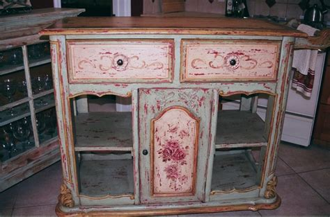 hand painted kitchen islands hand painted kitchen island shabby cottage style pinterest