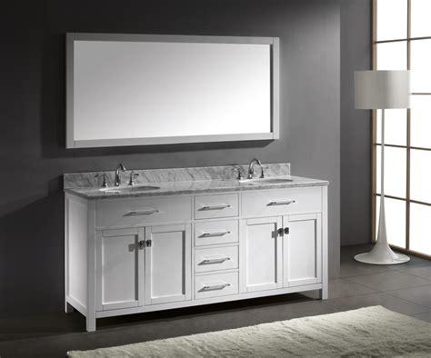 Double Bathroom Vanity by Caroline 72 Inch Double Sink Bathroom Vanity In White By