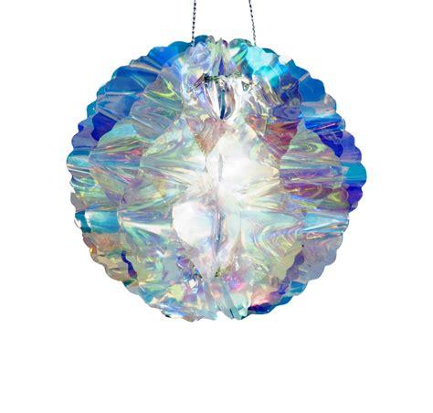 holographic christmas decorations iridescent holographic hanging decoration 20cm honeycomb hanging ebay