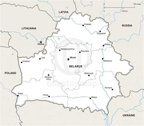 political map of belarus vector map of belarus political one stop map