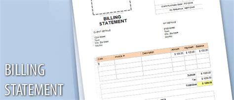 Free Credit Card Statement Template billing statement template for word powerpoint presentation