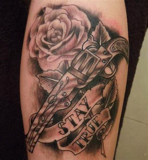 roses and guns tattoos guns and roses tattoos designs ideas and meaning