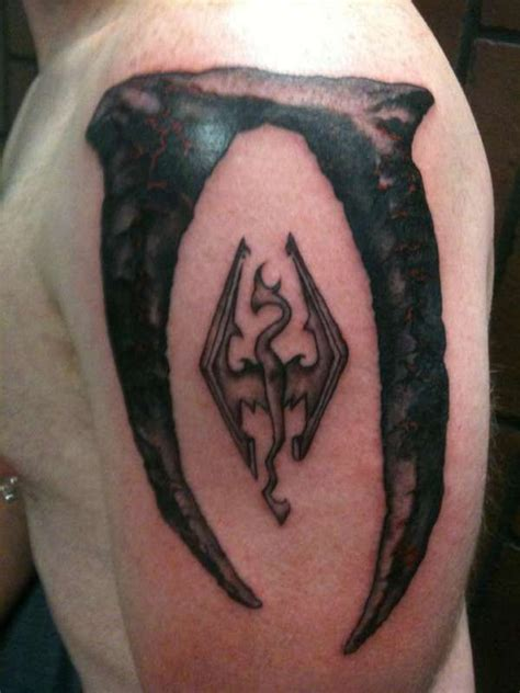 elder scrolls tattoo 50 best tattoos images on