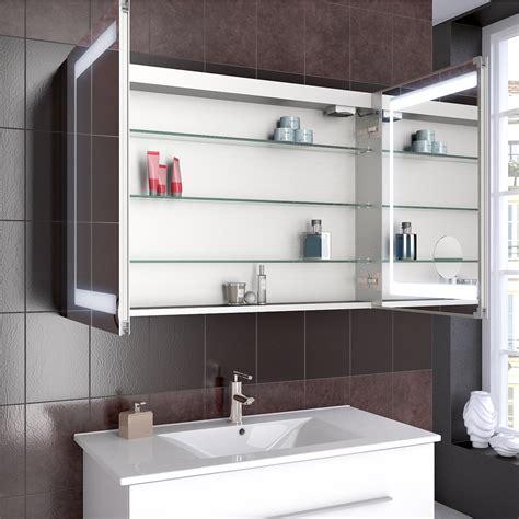 salle de bains armoire 224 glace armoire de toilette led