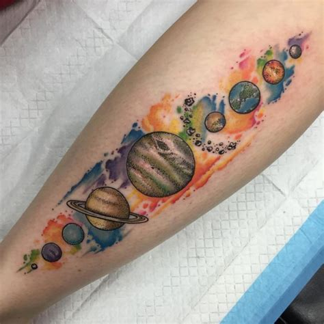 solar system tattoos 65 facinating solar system designs their origin