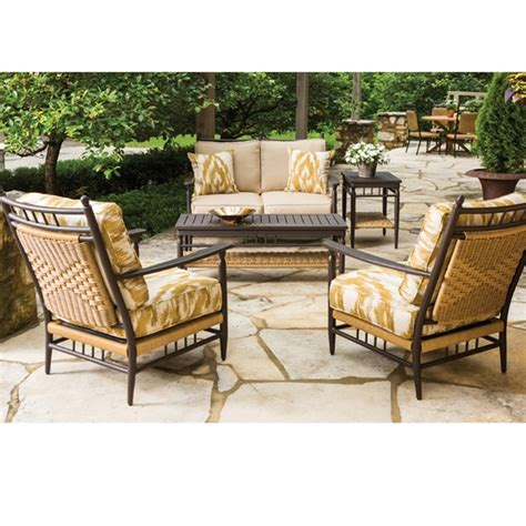 lloyd flanders low country 5 wicker patio set lf