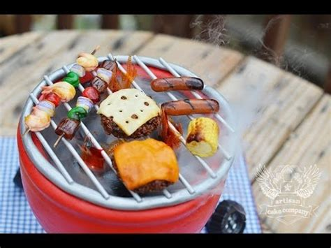 BBQ Grill Cake   YouTube