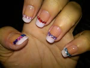 french tip nail art designs acrylic nail designs