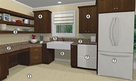 universal design kitchen cabinets the disabilities act calls for structural modifications