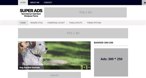 adsense squarespace superads lite wordpress theme download review 2018