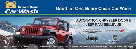 Autonation Jeep Bellevue Dealership Program Brown Car Wash