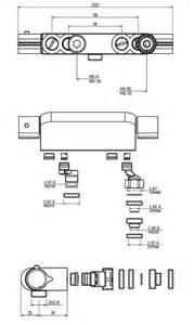 mitigeur thermostatique de entraxe variable de 55