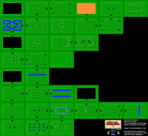 legend of zelda map level 1 the legend of zelda level 7 demon quest 1 map bg