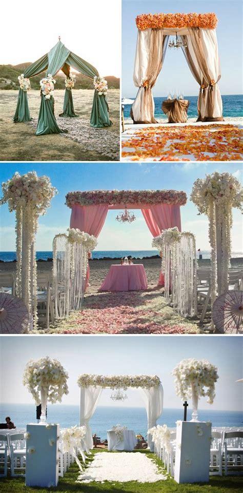 Beach Wedding Ceremony Decor   The Destination Wedding