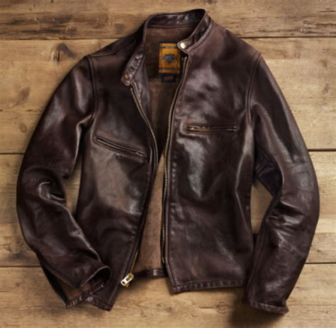 Leather Nyc schott nyc x restoration hardware cafe racer motorcycle jacket